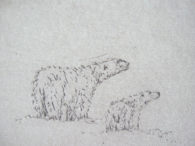 polar-bears-1-2x3-etching-on-paper