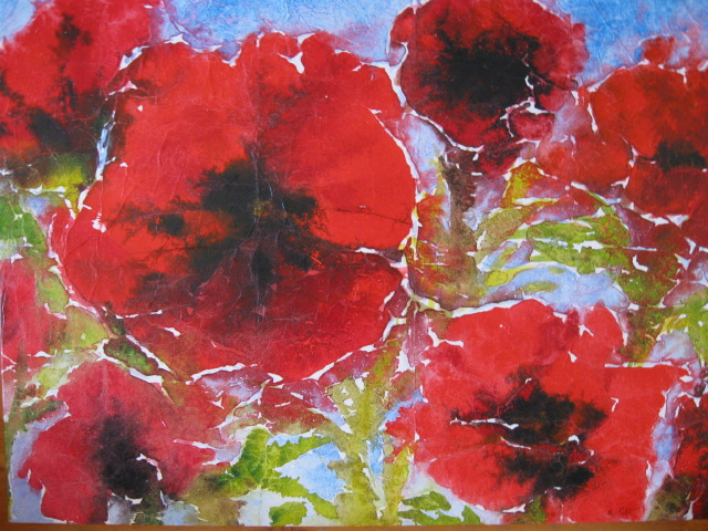 poppies-acrylic-tissue-on-canvas-18x24