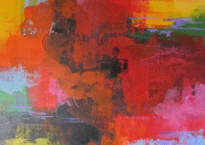 Happy Days acrylic on canvas board 16x20