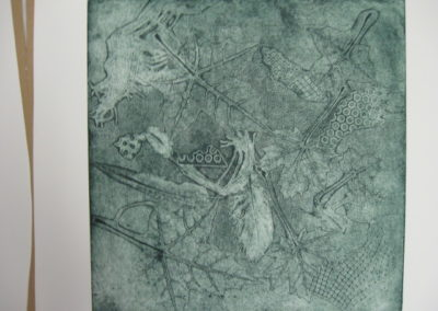 remants-of-fall-green-etching-on-paper-10x10