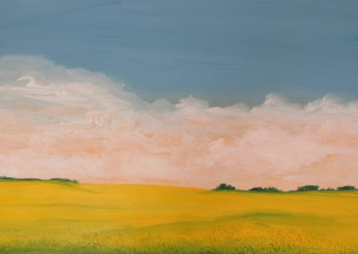 Canola Fields #3 acrylic on paper 22x30 - $700