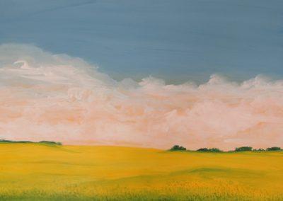 Canola Fields #3 acrylic on paper 22x30