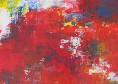 Mardi Gras #2 acrylic on paper 22x30